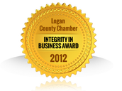 Logan County Chamber Integrity in Business Award winner